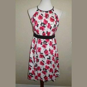 0 LOFT Floral Print Midi Dress